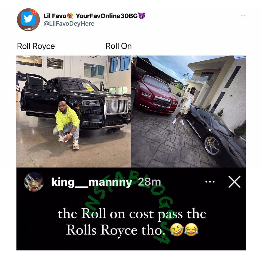 """""""Burna Boy's Rolls Royce is more expensive than that of Davido's"""" - Burna Boy's PA, Manny reveals"""