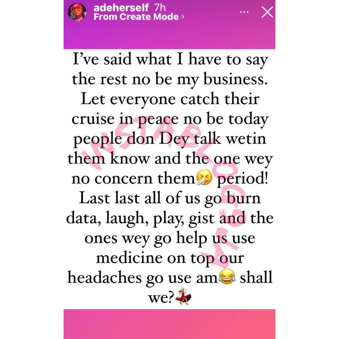 """We never dated"" - Comedienne Adeherself breaks silence as Cute Abiola weds lover"