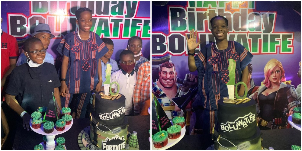 Wizkid's son, Boluwatife host friends and family on his 10th birthday (Videos/Photos)