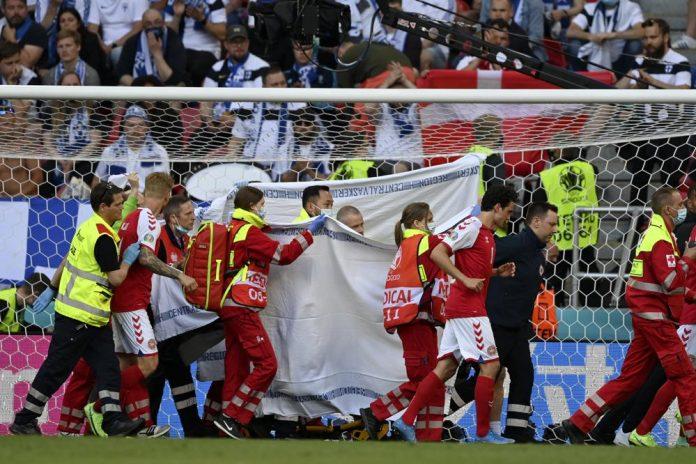 Euro 2020: Watch moment Christian Eriksen collapsed during Denmark Vs Finland match (video)