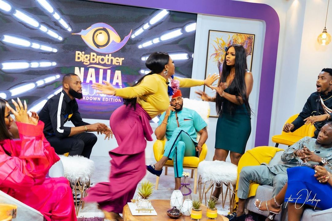 Watch moment Kaisha and Lucy fight on BBNaija reunion show