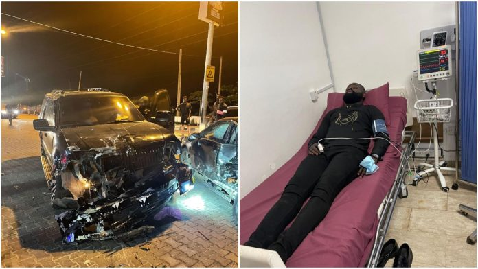 Comedian Ay's brother, Yomi Casual survives ghashly moto accident (Photos)