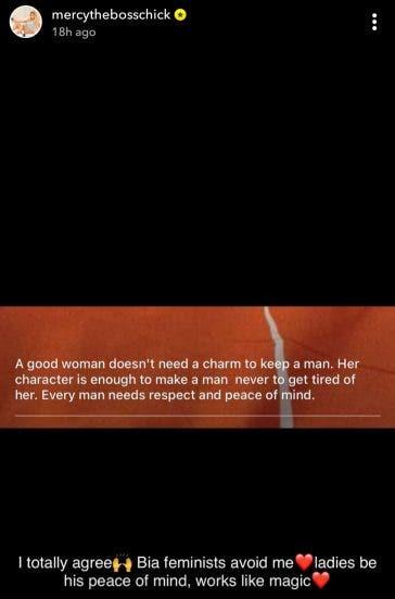 """Feminists avoid me"" - Reality Star, Mercy Eke shares deep secret to Keeping a man"