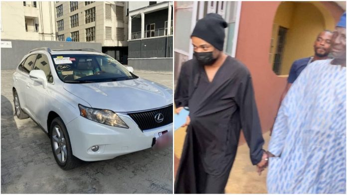 Nigerian Crossdresser, Bobrisky gift his dad a Lexus Jeep worth N8 million (video)