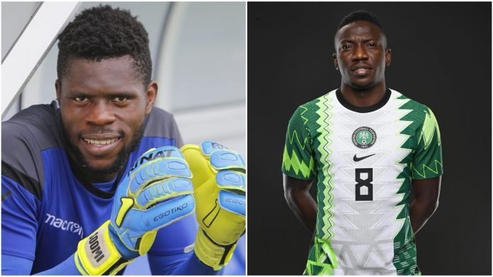Nigerian Footballer Etebo mocks his colleague, Francis Uzoho, who claims he's 22yrs old (Video)