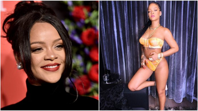 Rihanna flaunts her hot body in strapless bra and panties