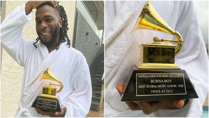 of Burna Boy Grammy Award
