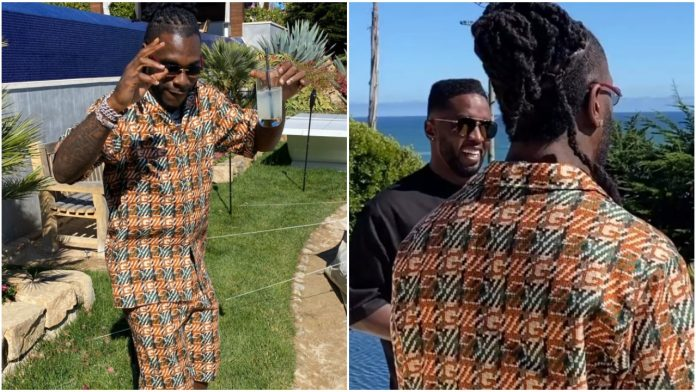 Watch moment Burna Boy linked up with Hip-Pop Mogul, Diddy In the U.S (video)
