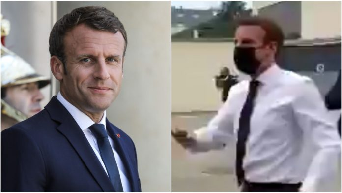 Watch moment France President Emmanuel Macron gets slapped in the face (video)