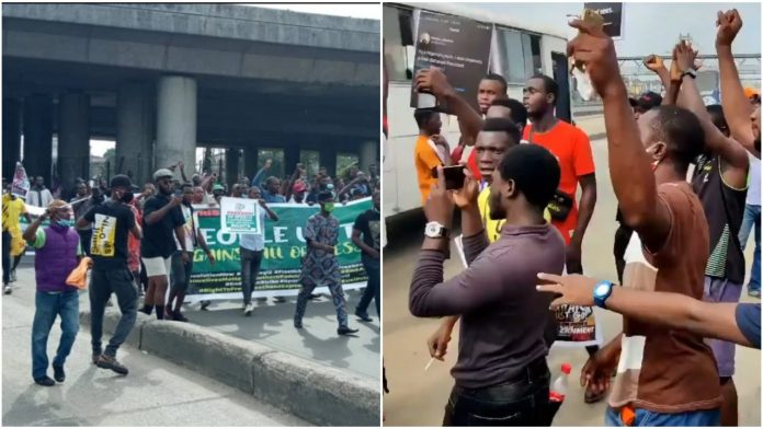 #June12protest: Watch moment more protesters arrive at Ojota to Protest (Video)