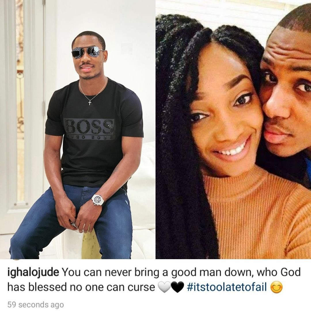 You can't bring a good man down - Ighalo reacts to his wife outburst on social media