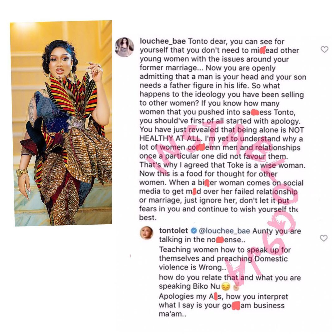 Tonto Dikeh addresses a lady who claimed she mislead women with her lifestyle