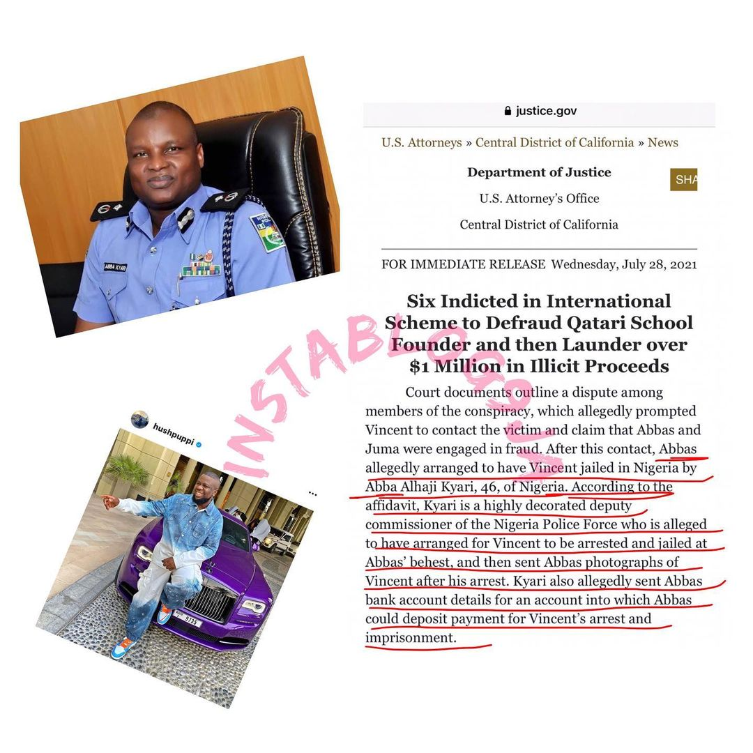 How Hushpuppi allegedly bribed DCP Abba Kyari — US Government reveals