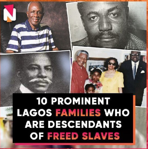 10 Prominent Lagos families who are descendants of freed slaves (video)