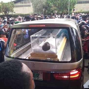 Photos and video from the Lying-In-State for clergyman, late Prophet TB Joshua