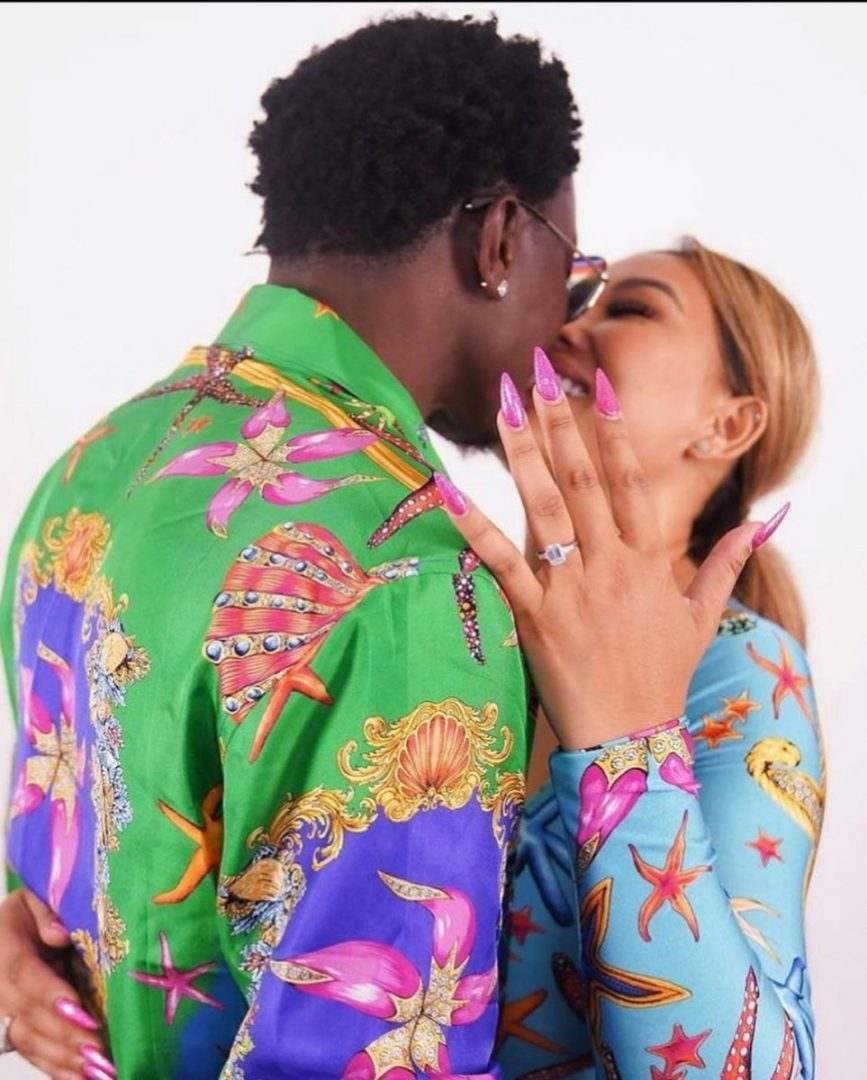 Moment Comedian Michael Blackson proposed to his girlfriend, Rada during a radio show (Video)