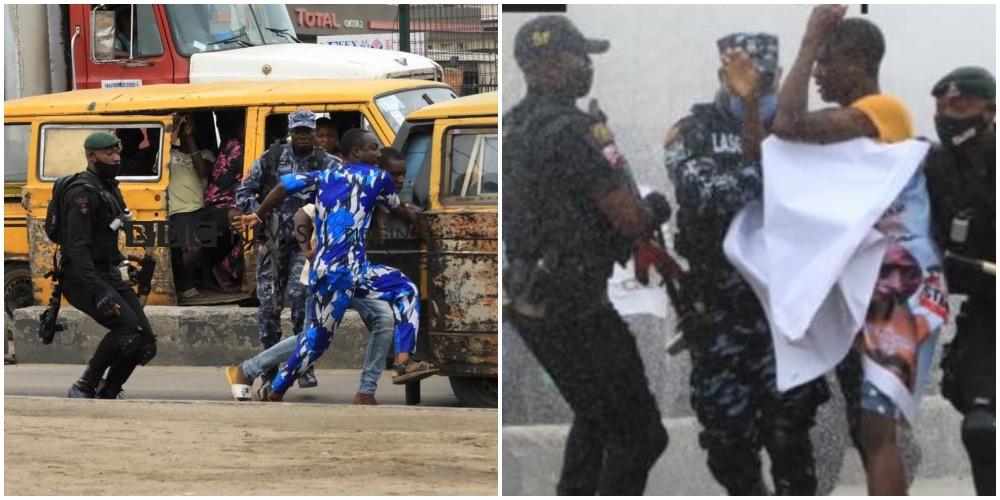 Nigeria Police disperse Yoruba Nation Protesters in Ojota, Lagos