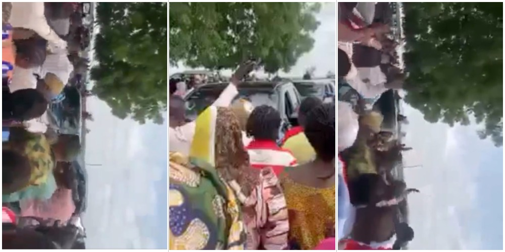 Moment parents of kidnapped students of BBSS, Kaduna, boo off the Commissioner of Internal Security (Video)
