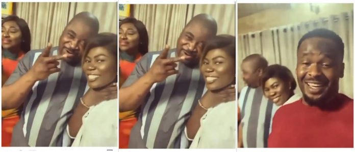 Actor Zubby Michael and Yvonne Jegede pay MC Oluomo surprise visit in Oshodi (Video)