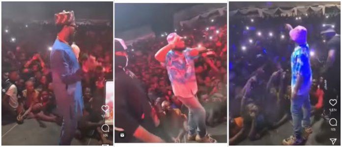 Watch Davido, D'banj and Kcee's performance at Obi Cubana's mother burial (Video)