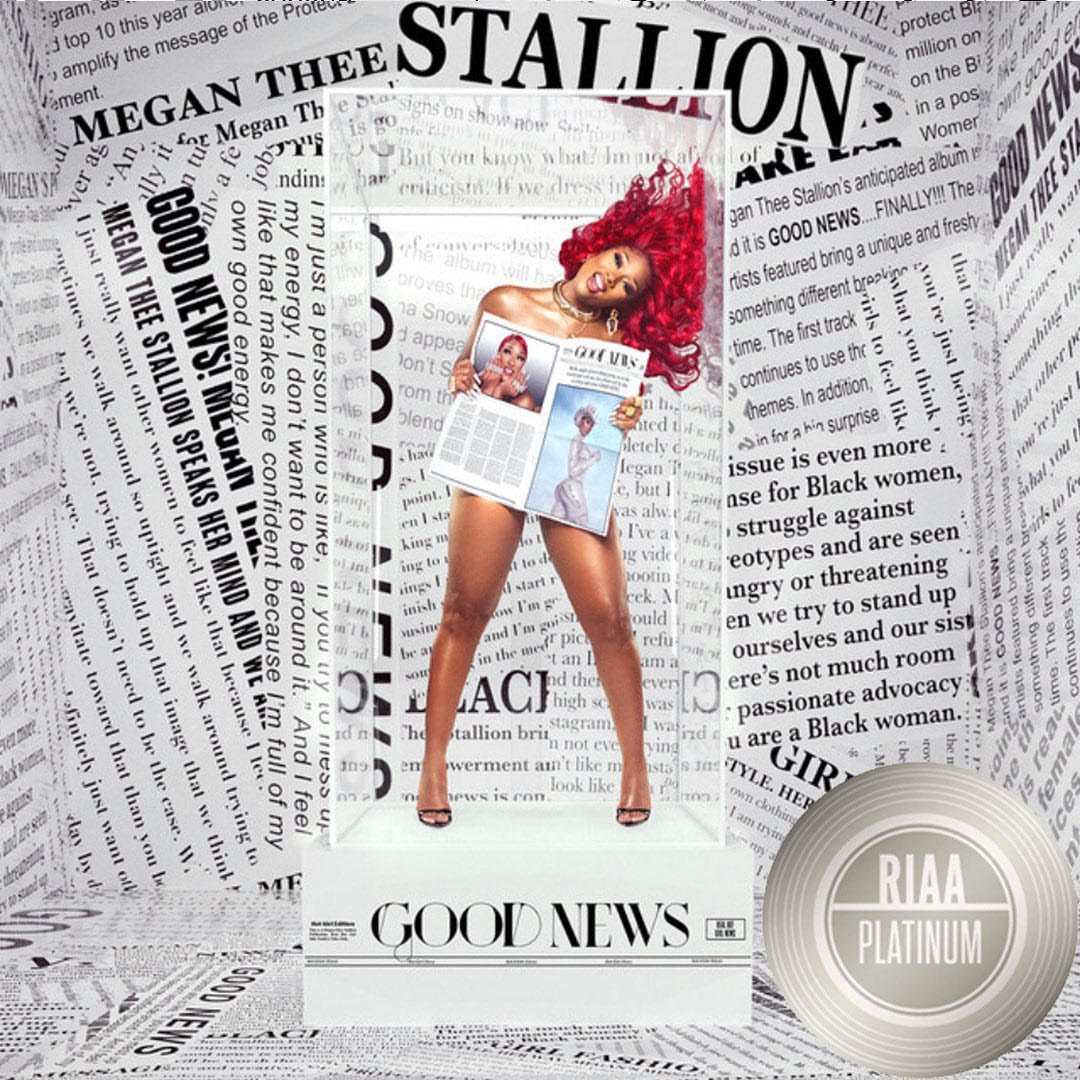 Rapper, Megan Thee Stallion's album 'Good News' certified Platinum (Screenshot)
