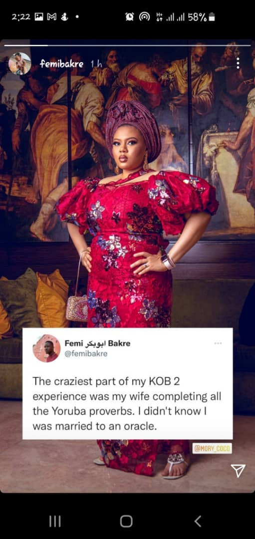 """""""I didn't know I married an oracle"""" - Tobi Bakre cries out after detecting his wife new talent"""