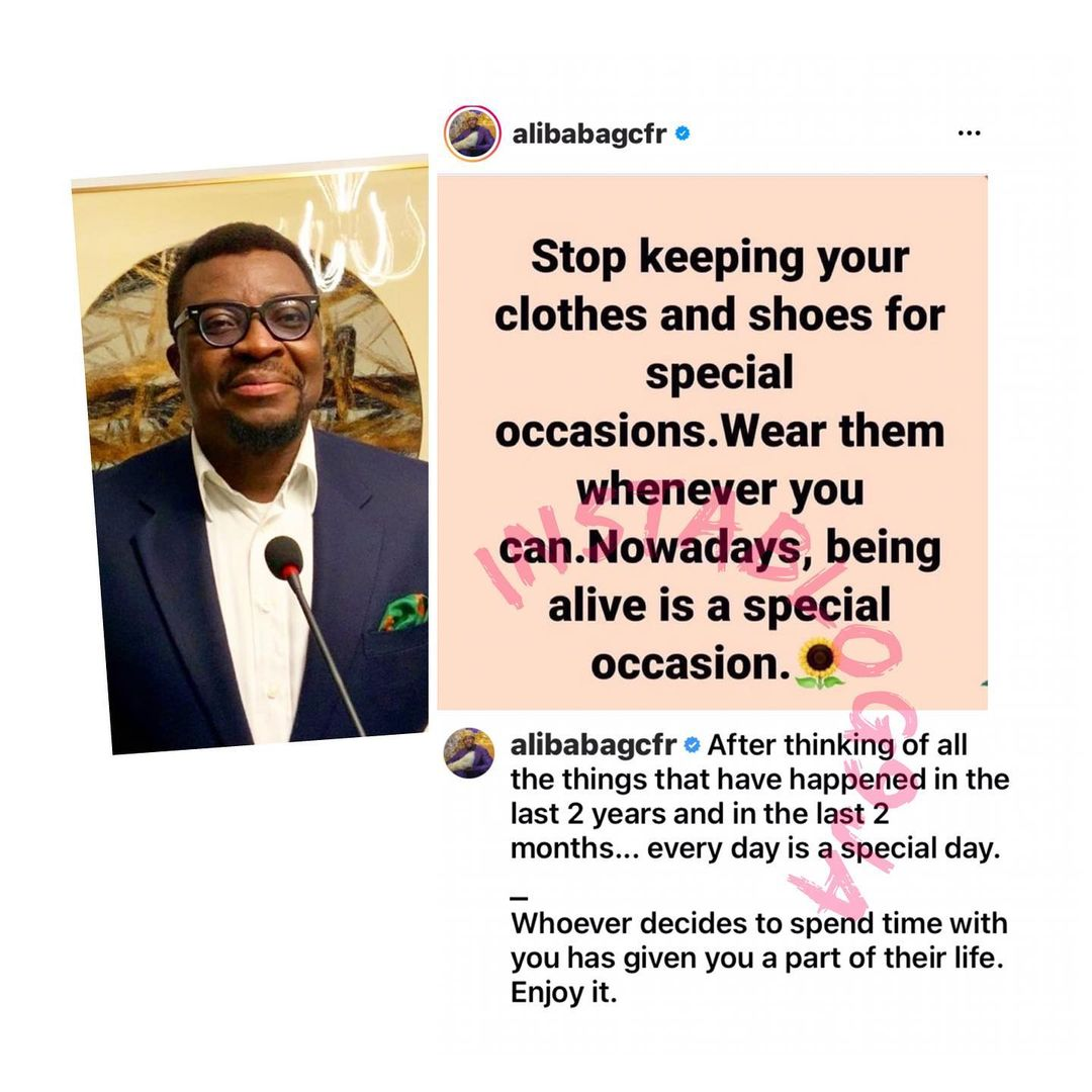 Stop keeping clothes for special occasions - Comedian Alibaba issues stern warning