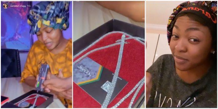 IG cruise queen AkA (E DEY SHAKE) splashes 14million Naira on diamonds (Video)