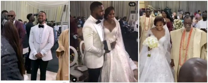Scenes from media personality, Adebola Williams wedding with ex-Gov Gbenga Daniel's daughter (Video)