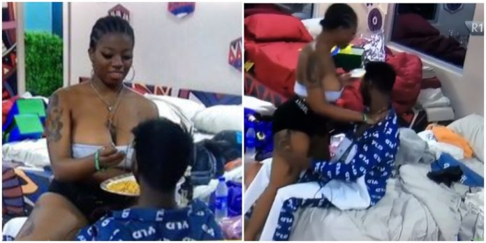 #BBNaija: Angel sideline Sammie, spends romantic time with Yousef (Video)