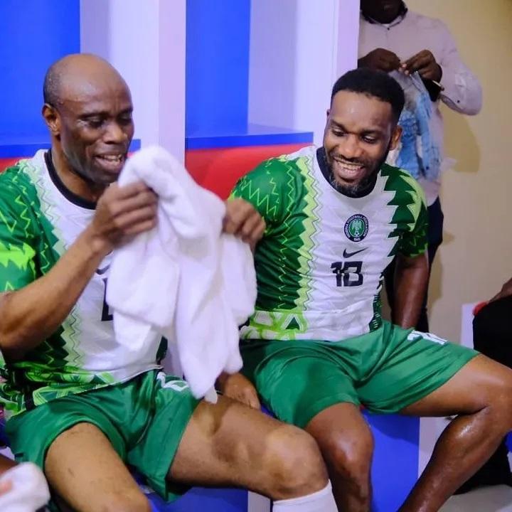 Ex-Super Eagles Draw Former 3SC Team In Ibadan (photos)