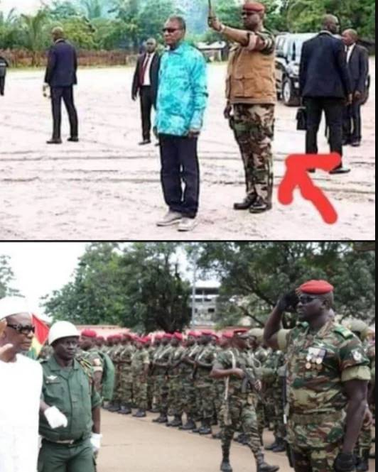 See the Umbrella Man that overthrown President of Guinea in a coup d'etat in guinea