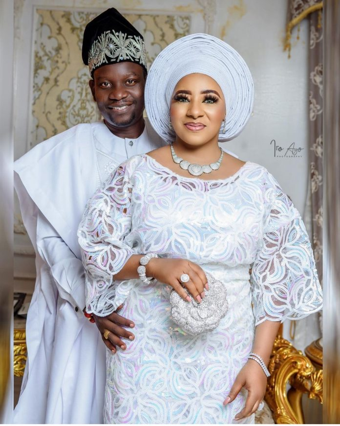 Actress Mide Martins and Afeez Abiodun celebrate their 17th wedding anniversary