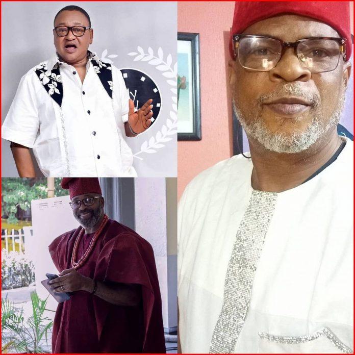 JUST IN: Jide Kosoko, Fred Amata, Yemi Solade lead protest against Raddison Blu