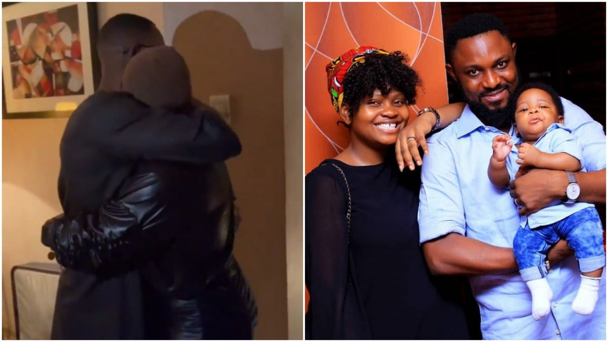 Watch moment Tega and Her Husband, AJ Money Reconciles, shares passionate Kiss (video)