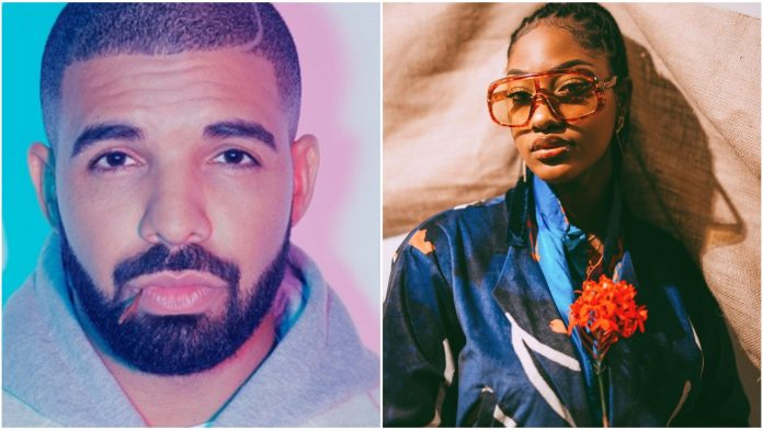 Singer, Tems set to be featured on Drake's Certified Lover Boy Album