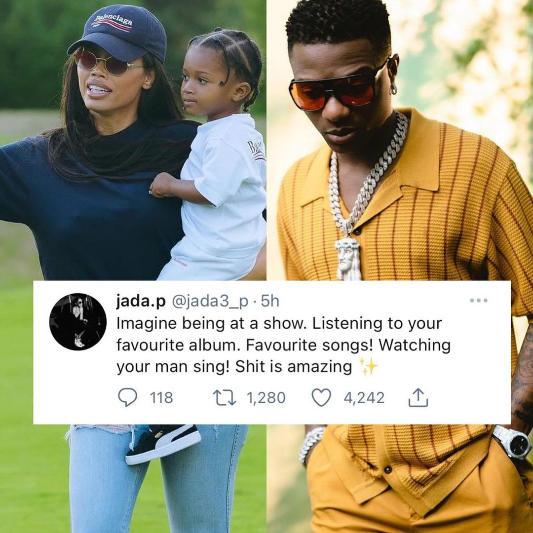 Wizkid's baby mama, Jada P gushes about his talent after his performance in Boston