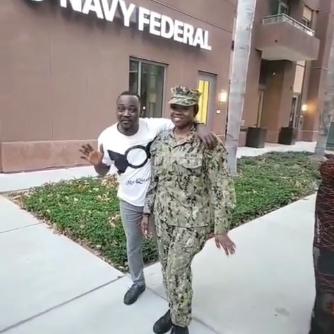 Watch heartfelt moment Pasuma visited his daughter, a naval officer in the US navy (Video)