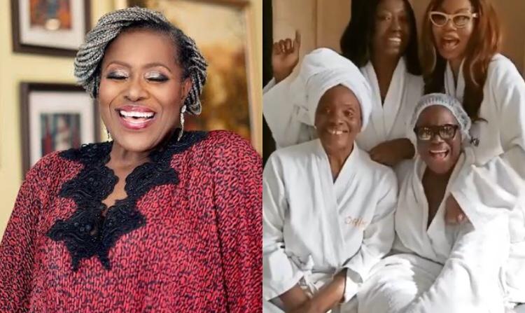 Betty Irabor, Taiwo Ajayi-Lycett and Stephanie Busari treat Joke Silva to a spa date as her 60th birthday nears