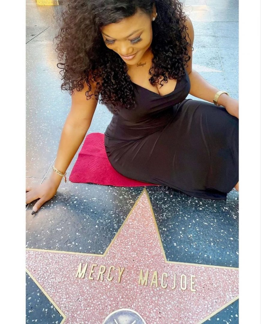 Actress, Mercy Macjoe gets her customized star on the Hollywood Walk of Fame (Photos/Video)