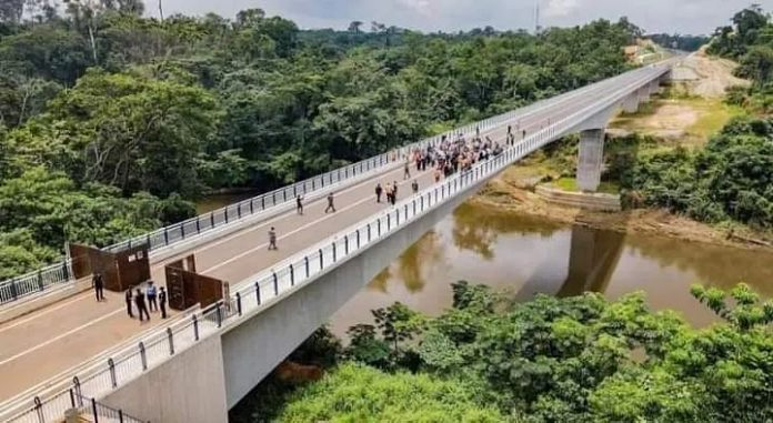 Photo of the Just Completed Nigeria-Cameroon 1.5km Border Bridge, Cost $35.9 million